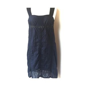 Converse One Star navy Cotton Sun Dress (size M)